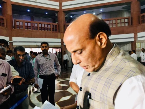 India stands shoulder to shoulder with families of Handwara encounter martyrs: Rajnath