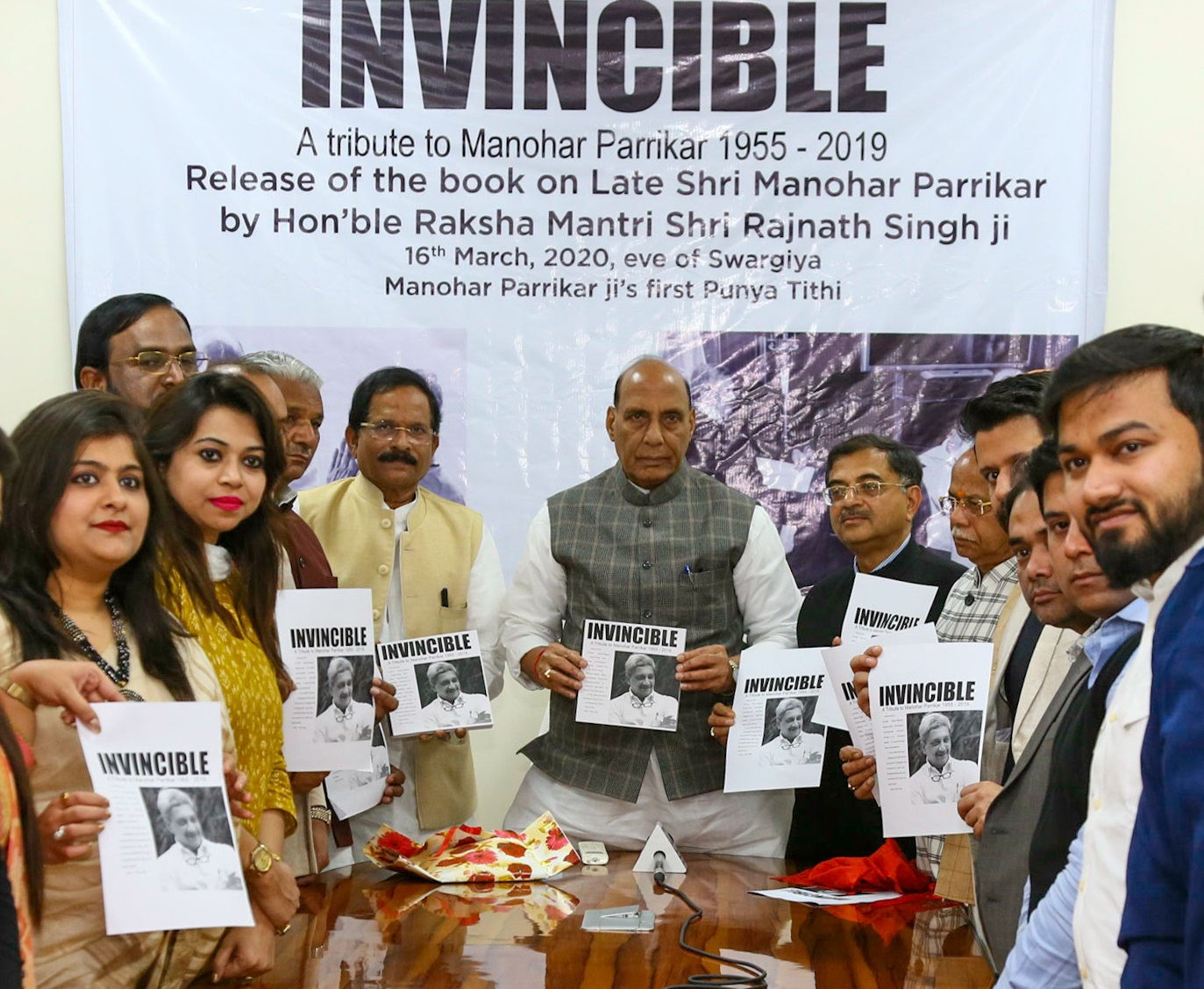 Rajnath Singh releases coffee table book on Parrikar