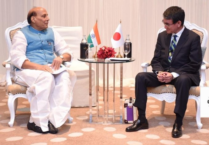 US-Iran crisis: Rajnath Singh holds talk with Japanese counterpart