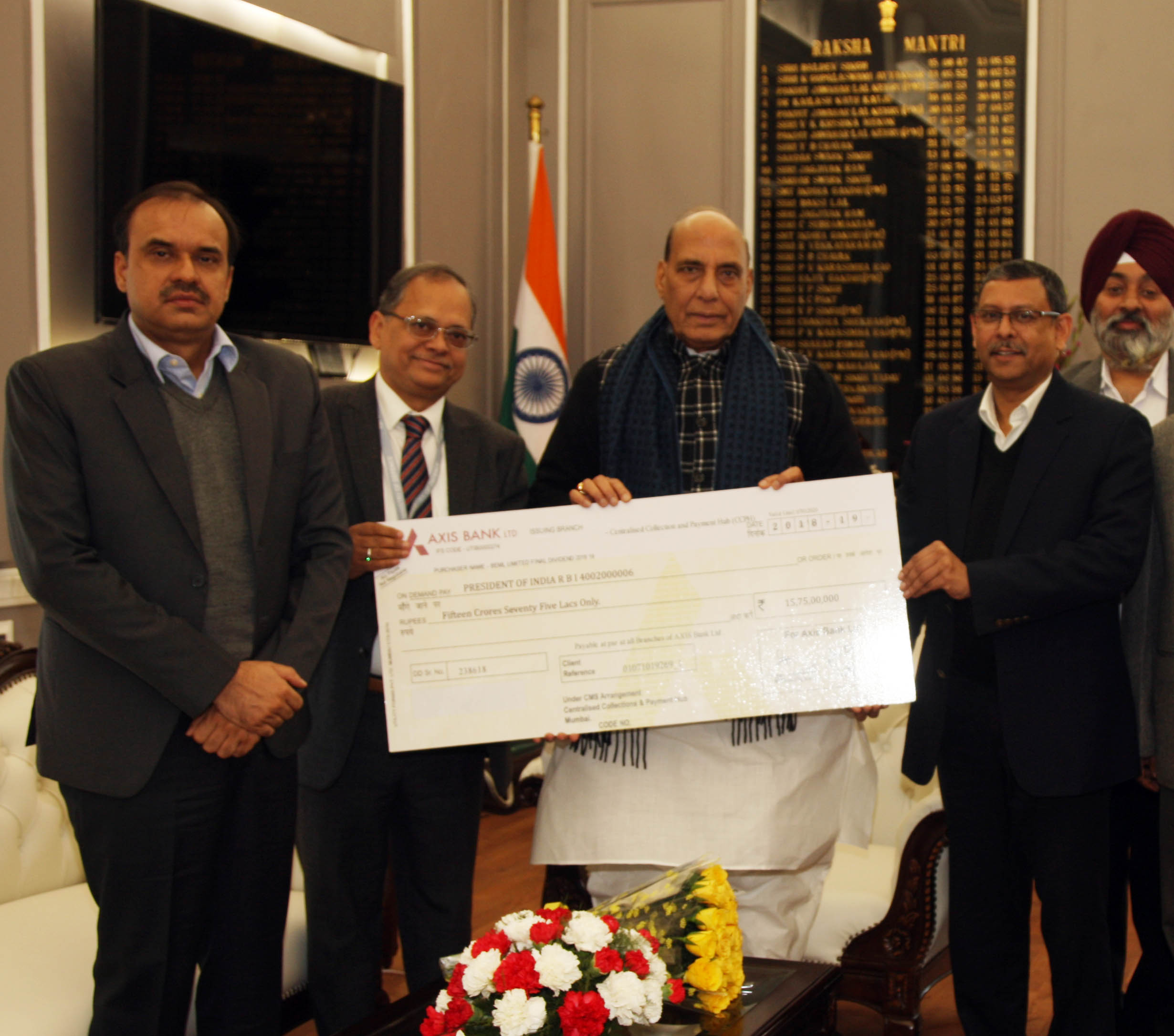 BEML pays dividend of Rs 15.75 crore to Defence Ministry