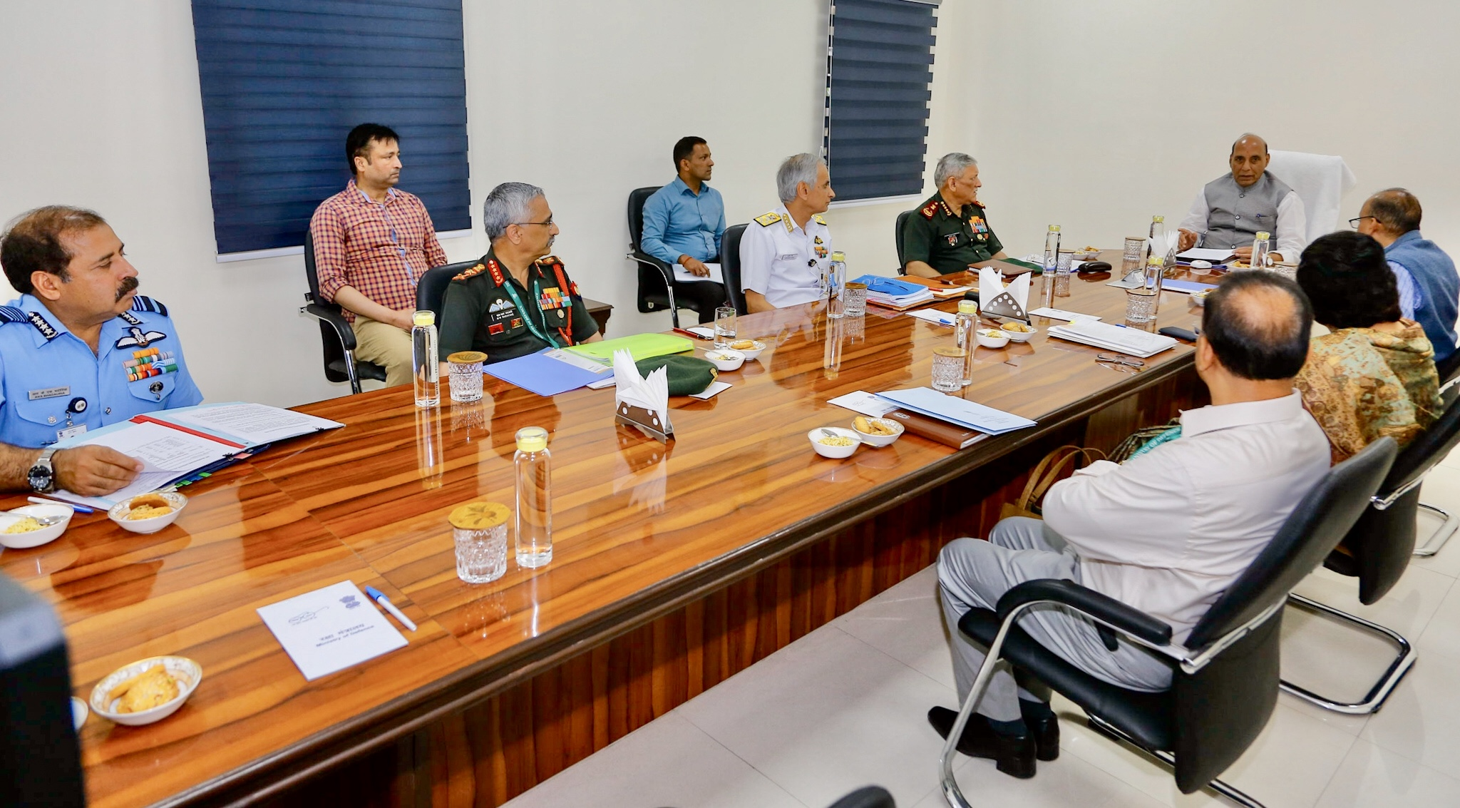 COVID-19: Rajnath Singh hold review meeting with CDS, Services chiefs