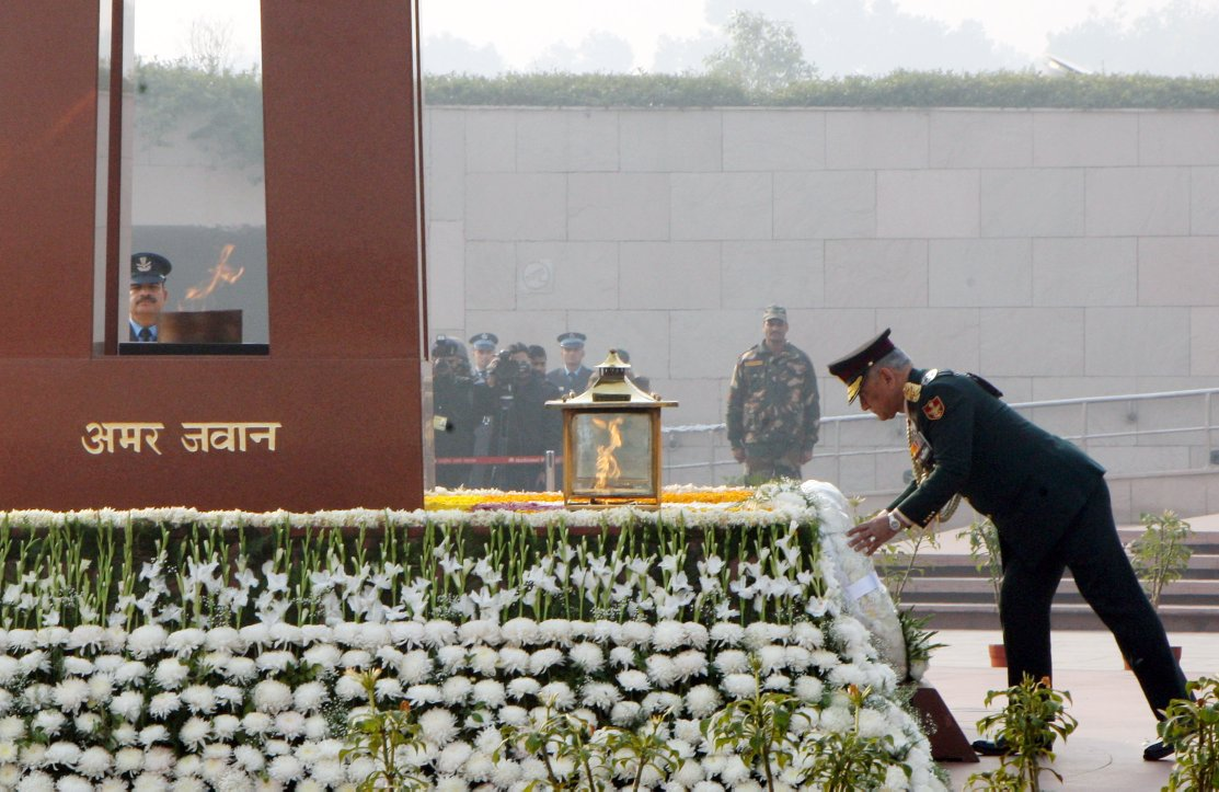Army Day: CDS, Service Chiefs pay tribute at National War Memorial