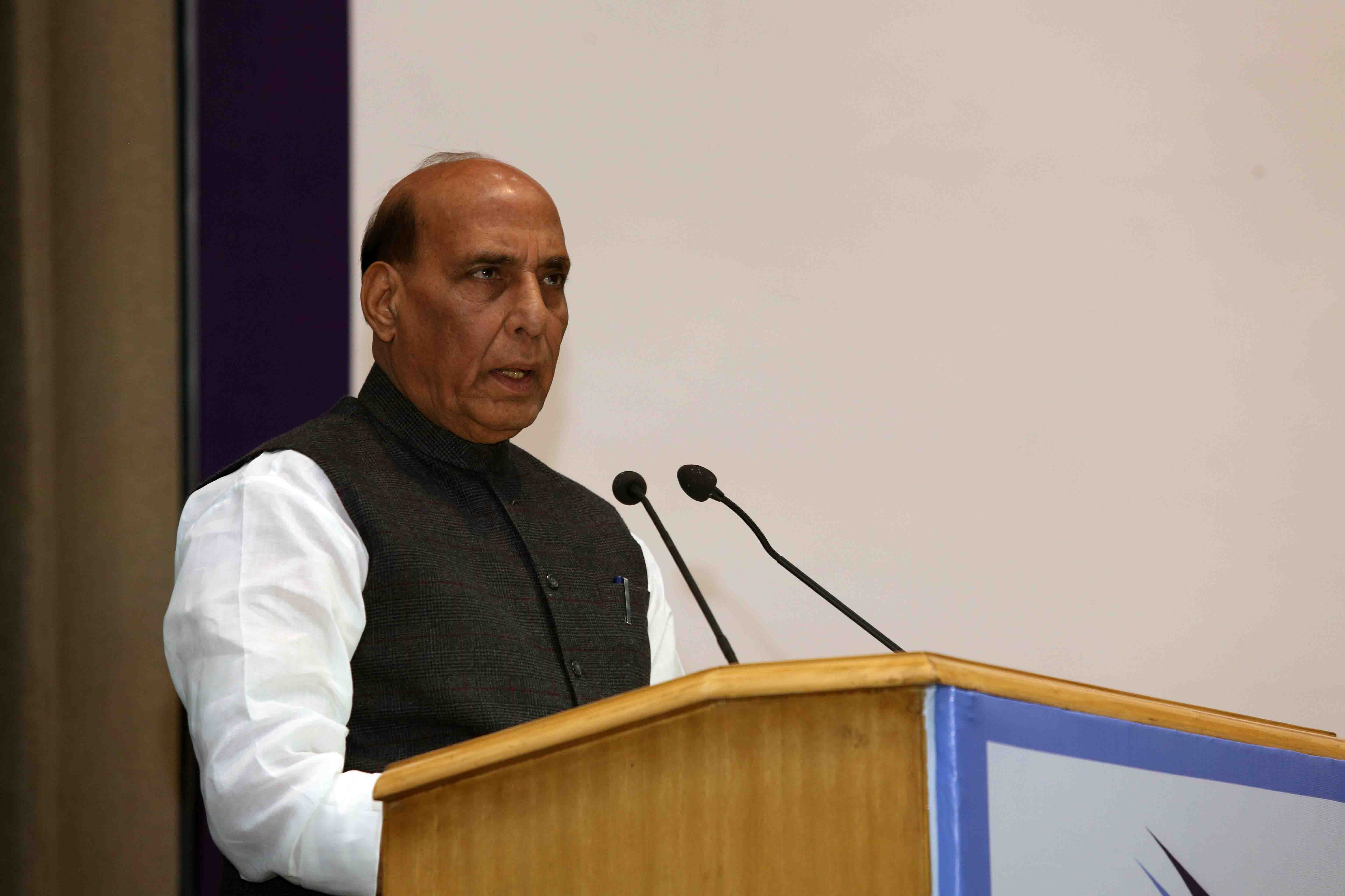 Balakot airstrikes was a message that cross-border terrorism will not be a low-cost option for the adversary: Rajnath Singh