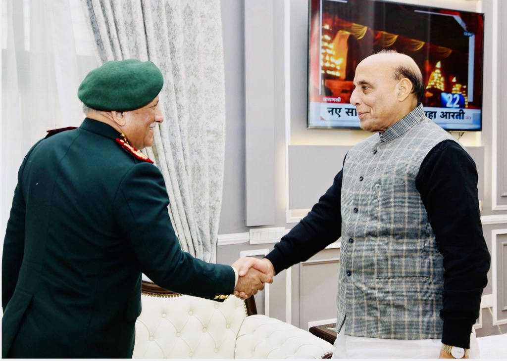 CDS Gen Rawat calls on Defence Minister Rajnath Singh
