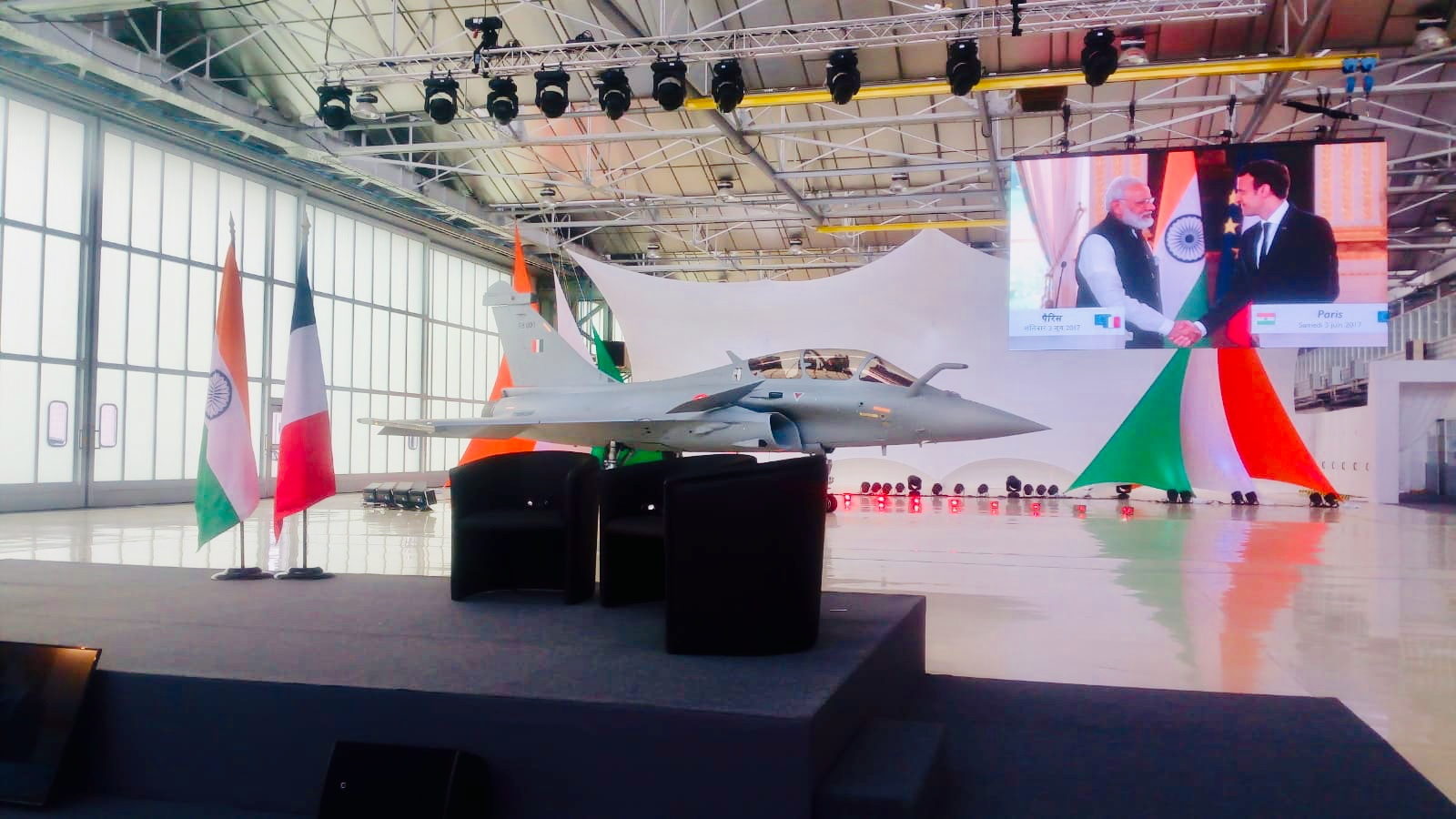 Rajnath Singh receives 1st Rafale fighter aircraft in France