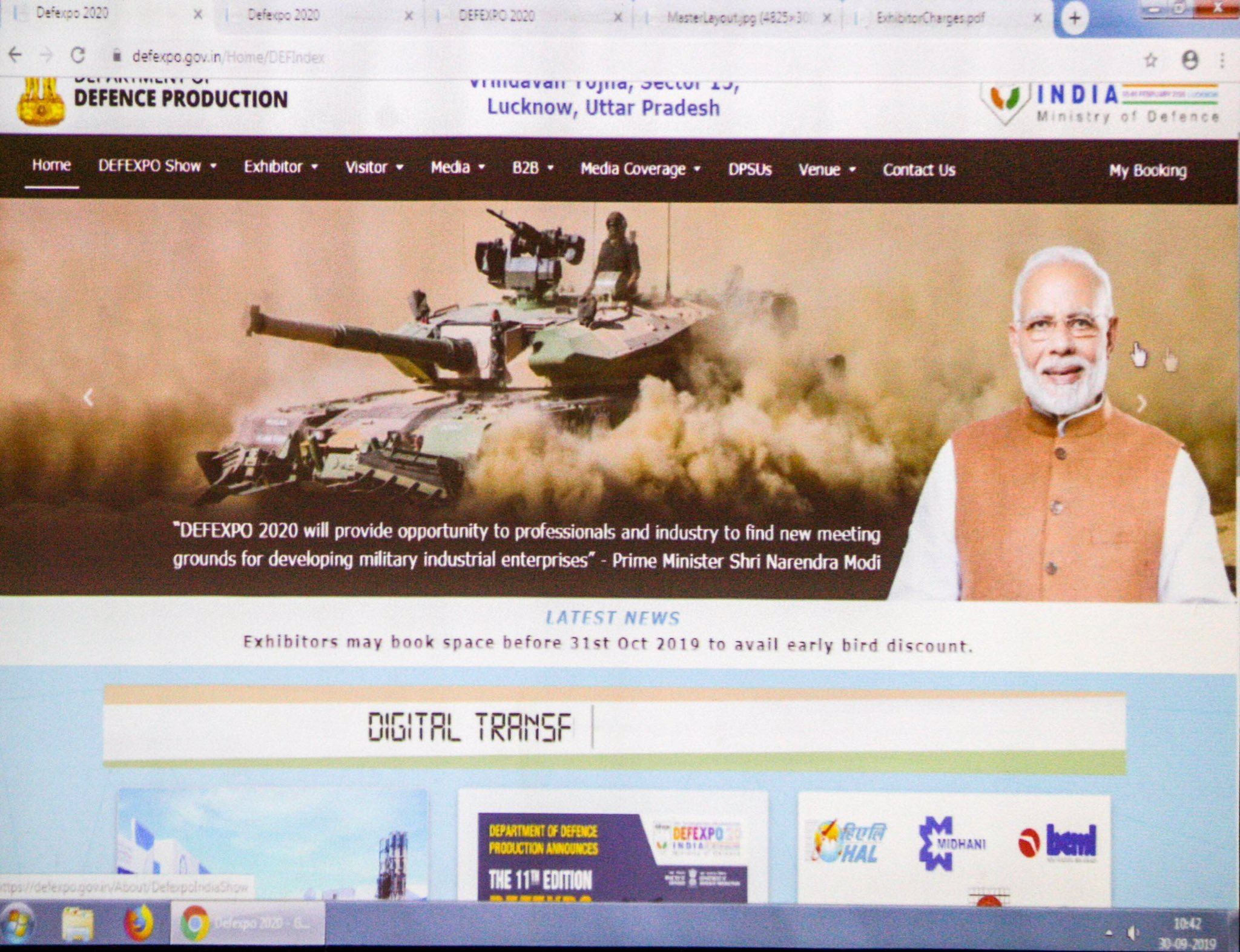 Defence Minister Rajnath Singh launches DefExpo website