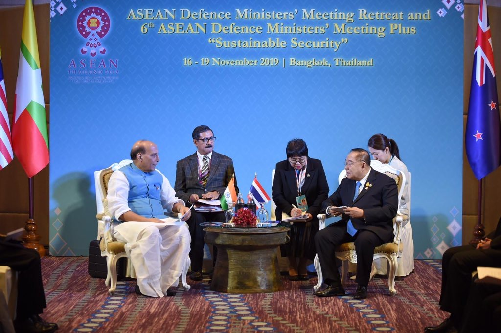 Rajnath discusses ways to further improve defence ties with US, Thailand, Japan, Australia & New Zealand