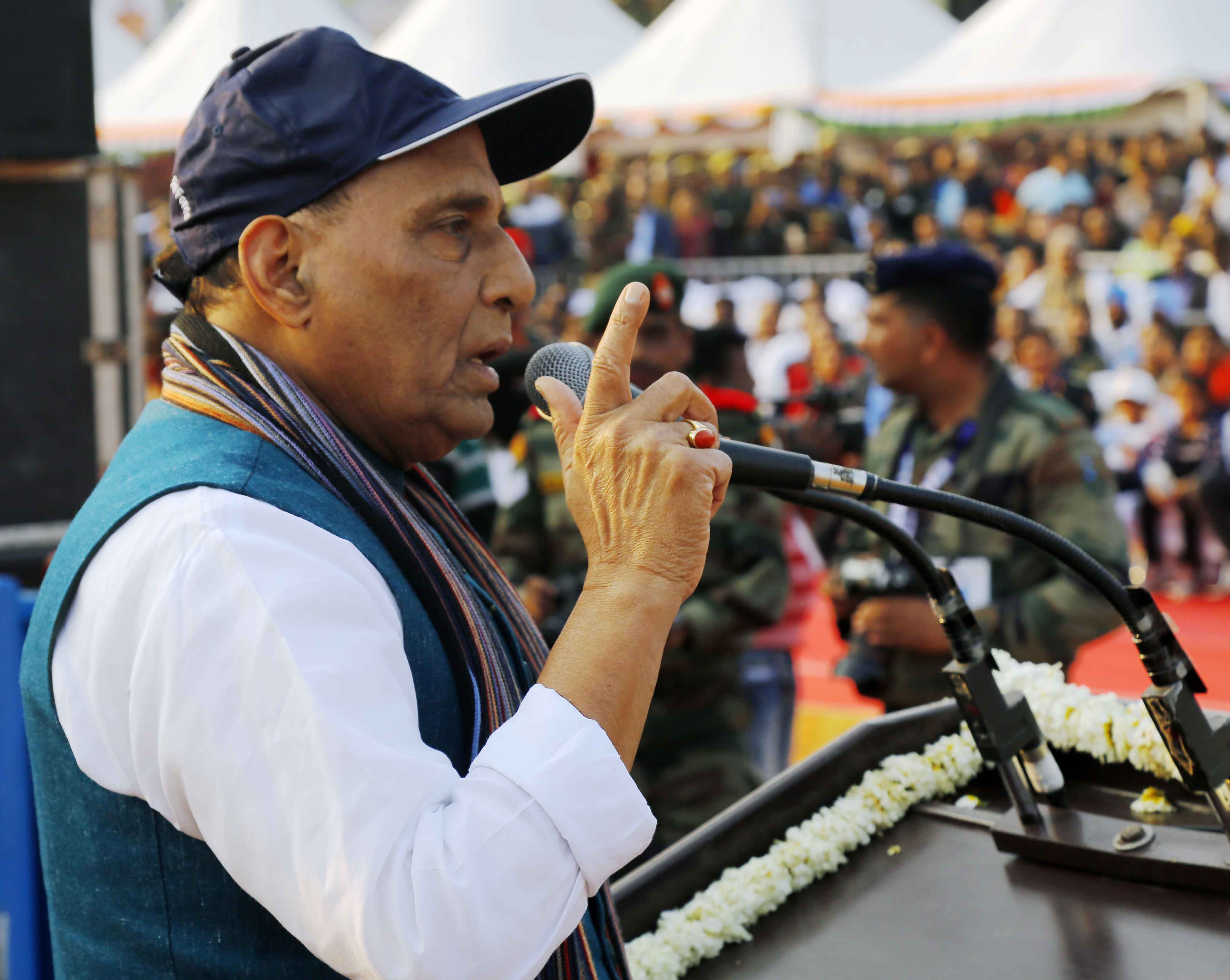 Strive further to increase competitiveness in global market: Rajnath to DPSUs