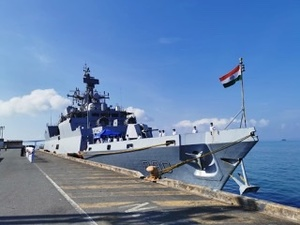 Indian Navy's INS Kiltan arrives in Cambodia to deliver 15 tonnes of HADR aid