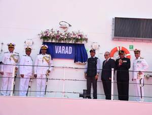 Ship Varad commissioned into Indian Coast Guard