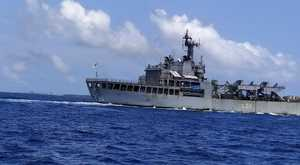 INS Airavat leaves Male port for Tuticorin with 198 Indians