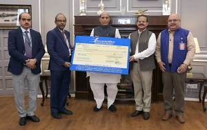BEL presents Rs 174.44 crore final dividend to Defence minister