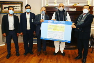 BEML hands over dividend worth Rs 5.625 crore to Defence minister Rajnath Singh