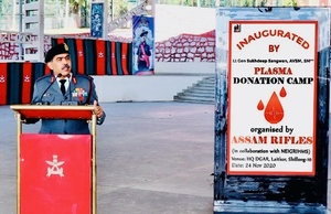 Assam Rifles Commanders' Conference commences with plasma donation camp in Meghalaya