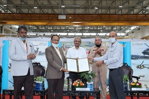 300th ALH Dhruv rolls-out from Hindustan Aeronautics Limited Hangar
