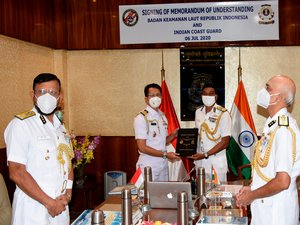 Coast Guards of India and Indonesia sign pact to combat maritime crimes