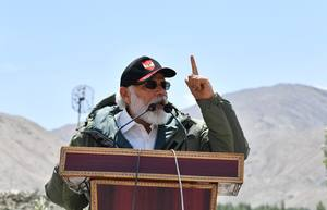 In Ladakh, Modi says era of expansionism is over