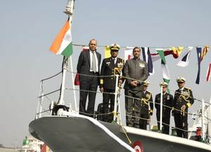 Defence Secretary Ajay Kumar commissions ICG Ships Annie Besant and Amrit Kaur