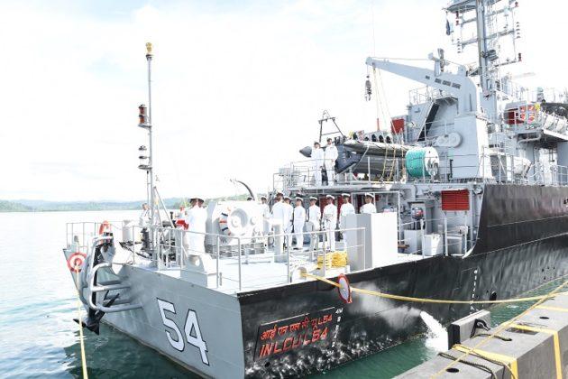 Indian Navy commissions amphibious ship LCU L54 at Port Blair