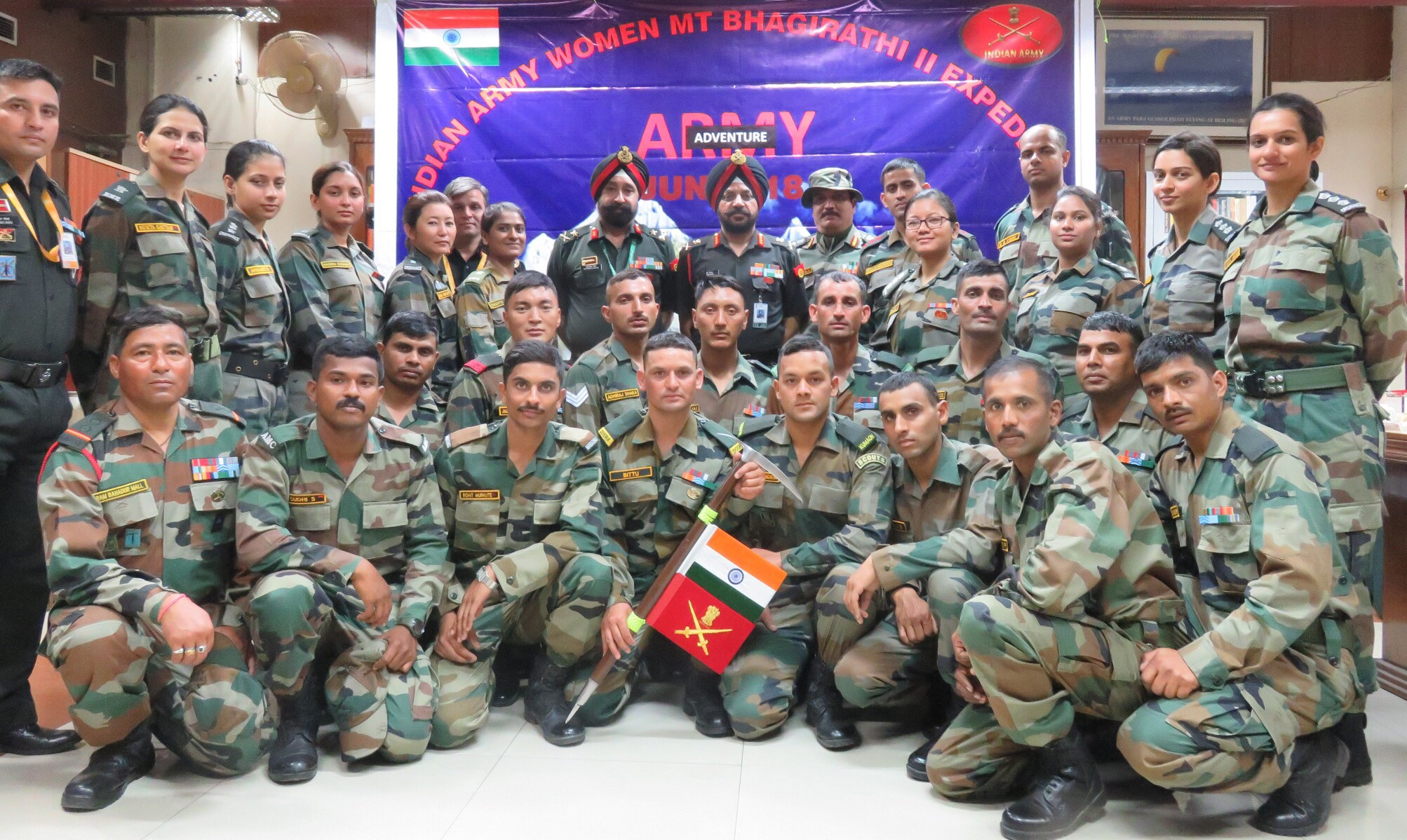 Indian Army Women Officers off to Mt Bhagirathi II