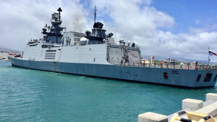 Exercise RIMPAC: INS Sahyadri arrives at Pearl Harbor