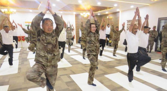 Indian, Chinese troops carry out Yoga together at DBO