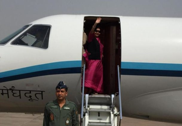 Sushma Swaraj emplanes for South Africa to attend BRICS, IBSA