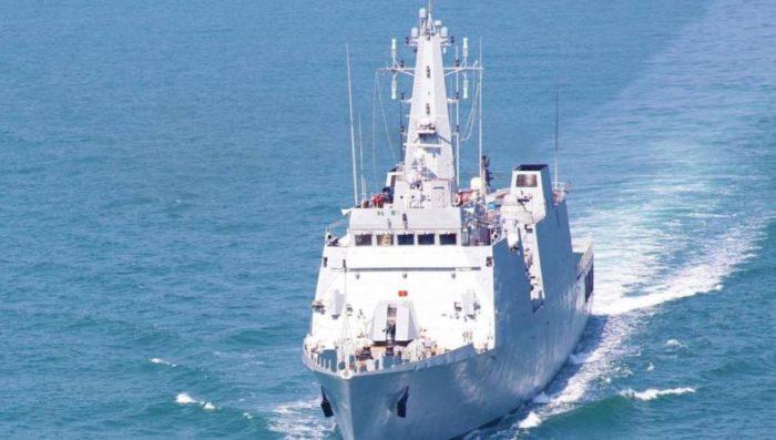 INS Sumitra enters Indonesia's Sabang port