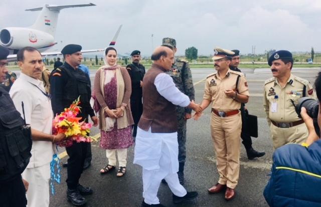Rajnath visits Kashmir to review security situation
