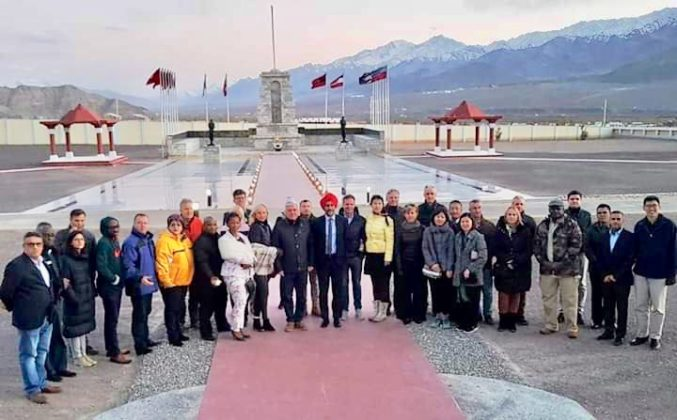 Defence Attaches from friendly nations visit Leh