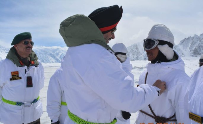 Northern command GOC visits Siachen sector