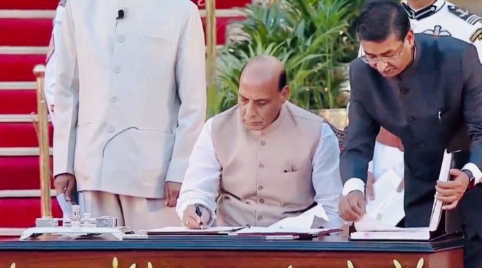 Rajnath Singh becomes new defence minister