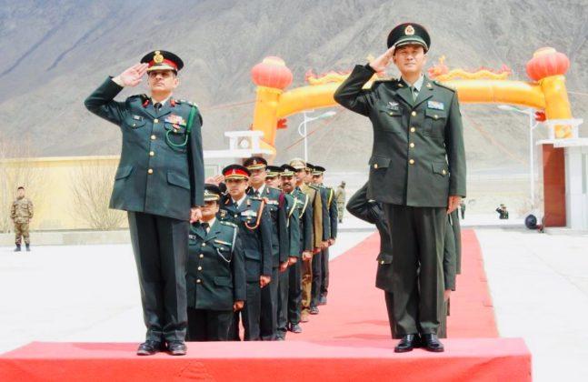 Armies of India and China hold ceremonial BPMs at Chinese BPM huts